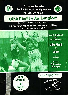 Leinster GAA Football  Championship 1997 Offaly v Longford