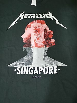 Metallica Official Worldwired Asia 2017 Singapore T-Shirt Large Rare