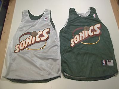 Seattle Supersonics Sonics Vintage 2-Sided Basketball Jersey-Youth Lg-New-Nwot