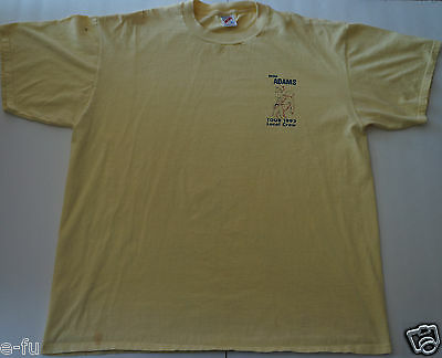 BRYAN ADAMS Rare 1992 Local Crew Concert Tour Yellow T-Shirt Very Hard To Find