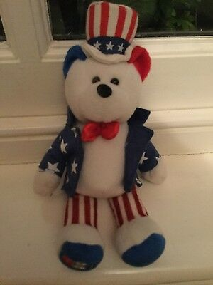 US stars and stripes bean filled figure