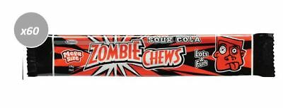 20 x 28g BARS OF MEGA SIZE ZOMBIE CHEWS SOUR COLA FLAVOURED