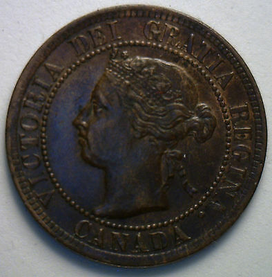 1894 Canadian Large Cent Copper Coin One Cent UNCIRCULATED