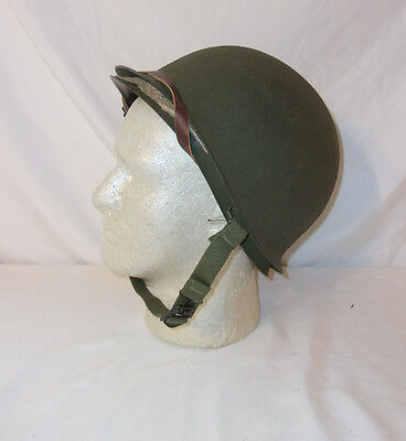 WWII Helmet, unused w/original packing paper, uncrated after war, museum cond