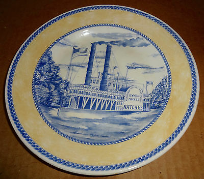 "American Heritage Millennium Churchill 8"" Salad Plate Steamboat Yellow Blue"