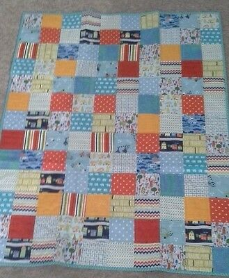 handmade patchwork quilt  Ideal For Cot Or Lap