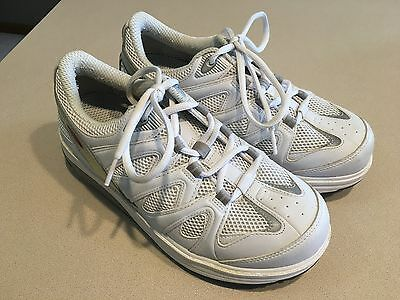 MBT Women's White/Grey Leather Toning Shoes Size 39