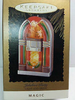 Jukebox Party Magic Light & Music 1996 Hallmark Keepsake Christmas Ornament