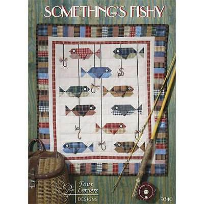 SOMETHING'S FISHY QUILT QUILTING PATTERN, by Four Corners Designs *NEW*