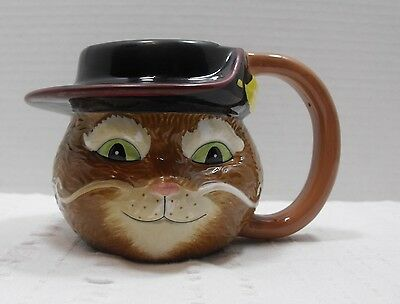Puss In Boots Novelty Coffee Mug 3D Disney Cup 2004 Shrek 2 DreamWorks