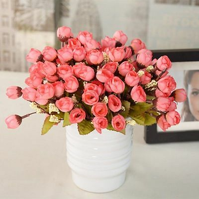Silk Fake Flowers Leaf Bouquet Leaf Peony Artificial Party Home Wedding Decors