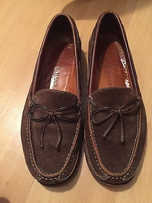 Mens brown suede loafers, shoes, Cole Haan, sz;11
