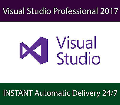 Microsoft Visual Studio Professional 2017 | UNLIMITED Devices | INSTANT Delivery