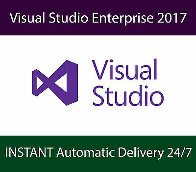 Microsoft Visual Studio Enterprise 2017 | UNLIMITED Devices | INSTANT Delivery