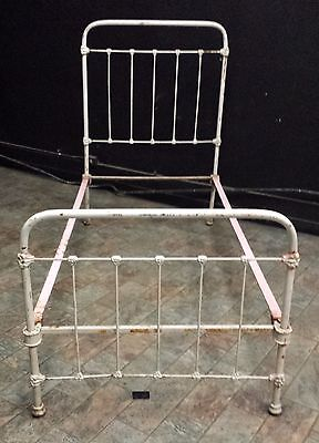 Antique Iron Bed Frame. Complete set Rails, Headboard, Footboard Vintage