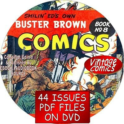 Buster Brown Vintage Comic Books - 44 Issues - Pdf Files - On Dvd - + Tige