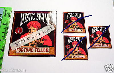Mystic Swami Fortune Teller Napkin Waterslide Vintage Vending Gum Machine Decals