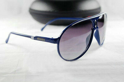 New Men Women Retro Sunglasses 100% UV400 Fashion Blue Frame Sport Glasses