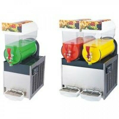 Brand New Commercial Double Bowl Slush Drinks Machine 15 Litre each XC224