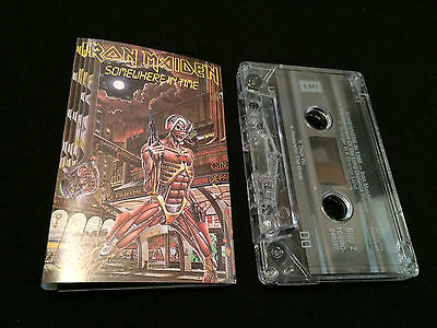 Iron Maiden Somewhere In Time Australian Cassette Tape