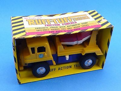 NOS Vintage 1975 Imperial Toy Ruff Tuff Concrete Truck Friction Powered -Rare