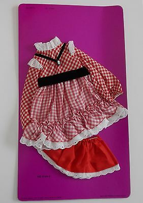 Vintage Ideal Crissy VELVET Doll Fashion - CHECKER CHECK Outfit NOC