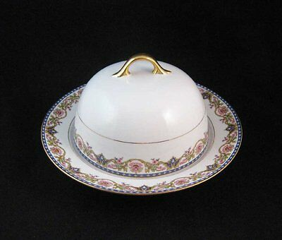 Limoges France Covered Butter Cheese Dish Jaubert Pattern