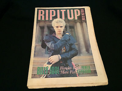 Rip It Up Magazine New Zealand Billy Idol May 1984 No. 82