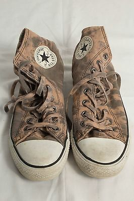 """Size 7 """"Converse"""" All Star Acid Wash Brown High Tops - Good Condition!"""