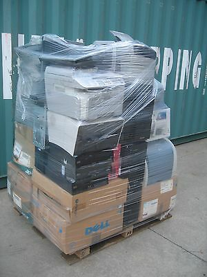 Bulk Lot Pallet Of Computers, Printers, Keyboards, Mice, Monitors, Accessories.