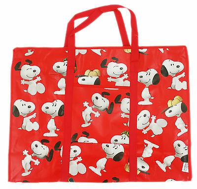 New Large Tote Bag Peanuts Snoopy Reusable Grocery Shopping Bag #58-red