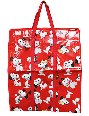 New Extra Large Tote Bag Peanuts Snoopy Reusable Grocery Shopping Bag #65-red