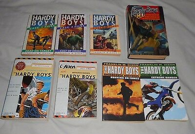 Franklin W Dixon THE HARDY BOYS books a Bulk lot of 8 BOOKS