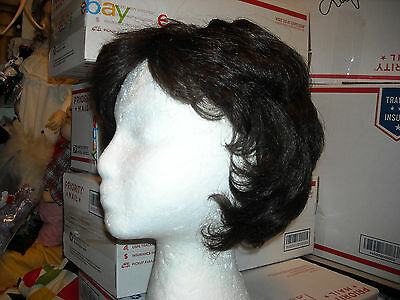 wear/play brunette brown hair wig  non flamable Joyokalon larger size 23 approx