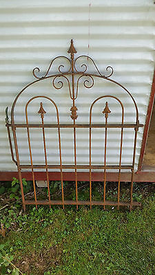 Antique Cast Iron Fence Gate,Victorian,Garden,Ornate,Architectural,Salvage,Decor