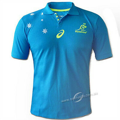 Wallabies 2015 Team Performance Polo Sizes S - 2XL