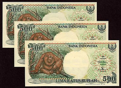 "Indonesia ""XYG Replacement"" (1992/97) 500-Rupiah {TRIPLE} UNC Notes: P128f [1]"