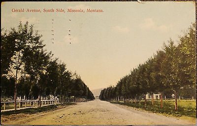 Gerald Avenue South Side Missoula Montana Postcard