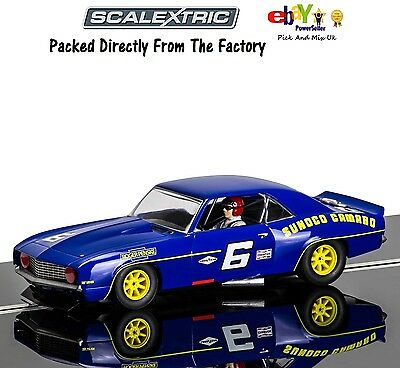 NEW SCALEXTRIC Slot Car, 1969 Chevrolet Sunoco Camaro Mark Donohue C3650
