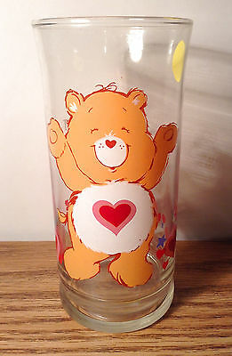 Vintage 1983 Care Bears TENDERHEART Pizza Hut Collectors Series Glass