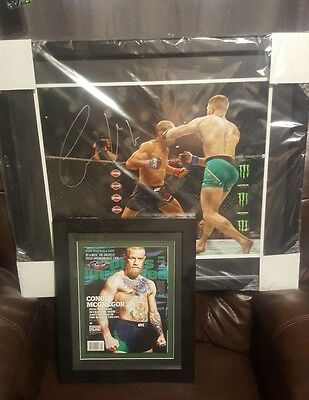 Conor Mcgregor Autographed Picture 16x20 Framed Mayweather Vs Mcgregor