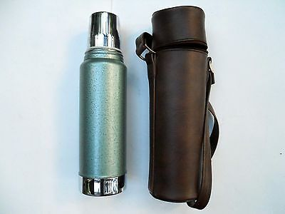 Nice Stanley Alladin Quart Thermos with Leather Case New