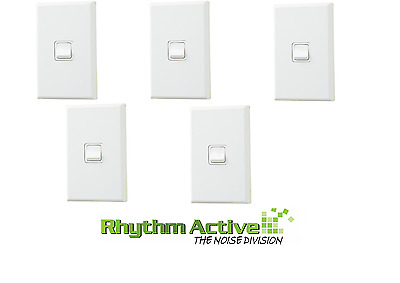 Pdl 681 5-Pack Single Vertical Power Light Switch Wall Panel On/off 20A White