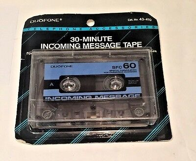 Duofone 30 Minute Incoming Message Tape NOS Orig Package Radio Shack