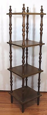 "Vtg Wood Spindle ETAGERE What Not Shelf CURIO DISPLAY Bookshelf 39"" x 10"" x 10"""