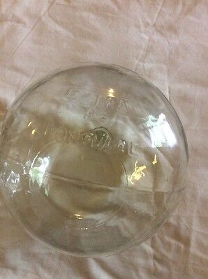 Antique Vintage Glass Fishing Float marked