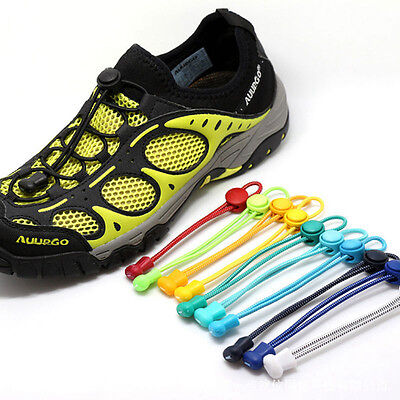 No Tie Elastic Shoelaces 1Pairs Stretch Laces with Easy Lock System