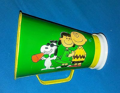 Vtg Peanuts Head Beagle Snoopy Lucy Charlie Brown Chein Tin Toy Megaphone