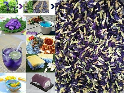 100% Dried butterfly pea flower Herbs Herbal healthy tea drink food coloring new