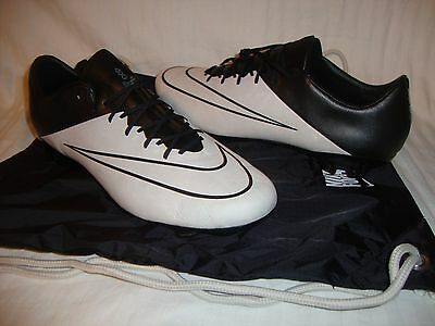 Men's Nike 747565-001 Mercurial Vapor X Leather FG Soccer Cleats & Bag Size 11.5